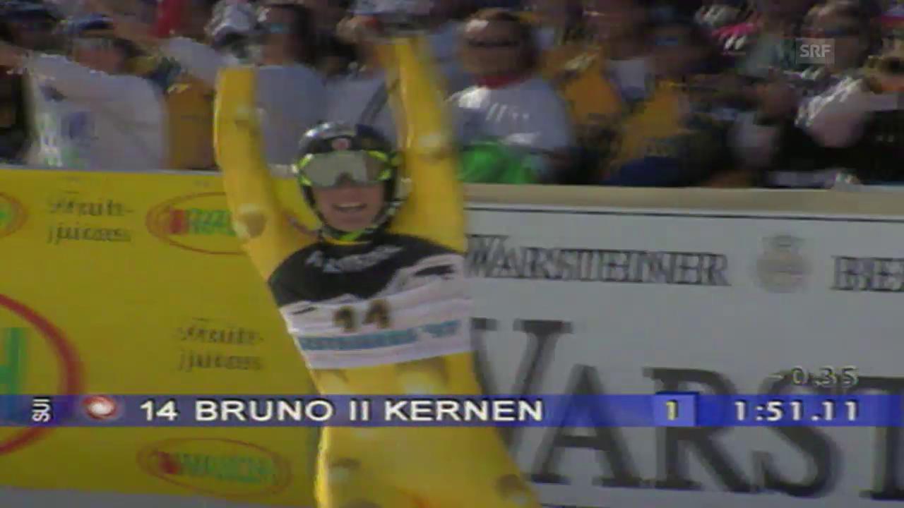 Ski alpin: Bruno Kernen wird 1997 Weltmeister