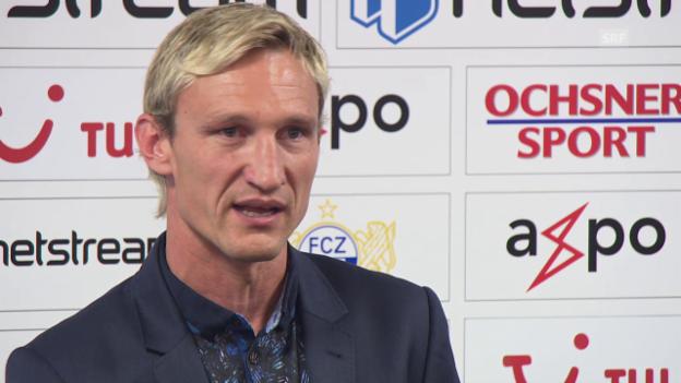 Video «FCZ-Trainer Sami Hyypiä will Ruhe ins Team bringen» abspielen