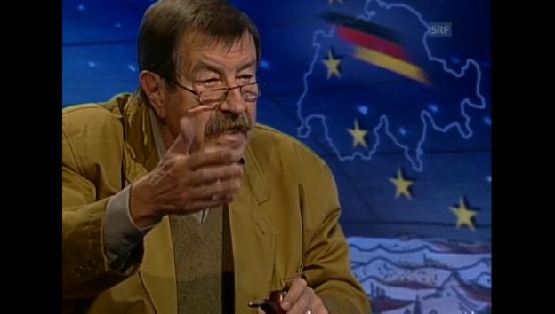 Video «Adolf Muschg im Gespräch mit Günter Grass über das Verhältnis der Schweiz zur EU (1998)» abspielen