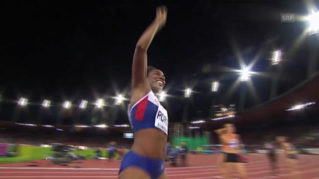 Video «Leichtathletik-EM: 100 m Hürden der Frauen» abspielen
