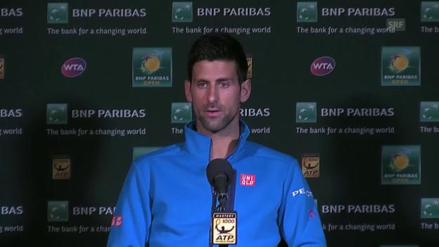 Video «Djokovic über den Dopingfall Scharapowa» abspielen