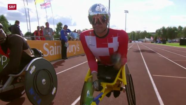 Video «Behinderten-EM in Wales: Marcel Hug» abspielen