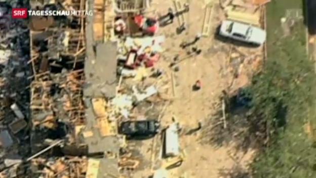Video «Explosion der Düngerfabrik: Mindestens 14 Tote» abspielen