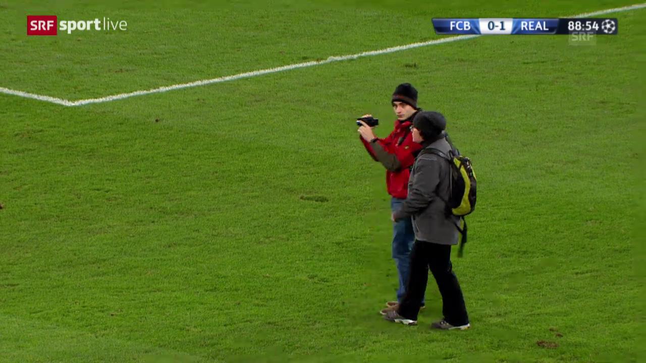 Fussball: CL, Basel-Real, Unterbruch wegen Zuschauern