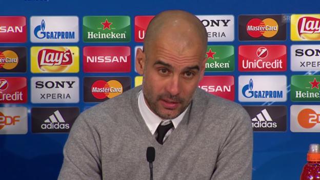 Video «Pep Guardiola zum Weiterkommen der Bayern in der Königsklasse» abspielen