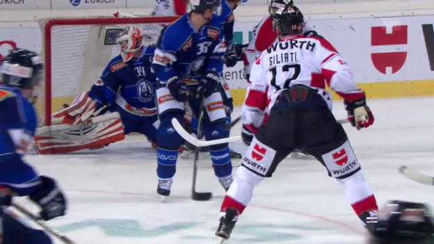 Video «Eishockey: Spengler Cup, die Tore bei Canada - Zagreb» abspielen