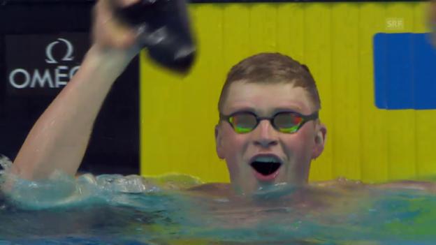 Video «Peaty: 50 m Brust in unter 26 Sekunden» abspielen