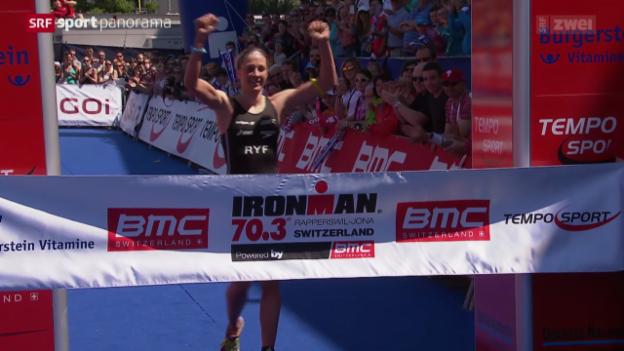 Video «Triathlon: Ironman 70.3 in Rapperswil-Jona» abspielen