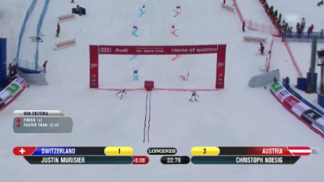 Video «Ski alpin: WM 2015 in Vail/Beaver Creek, Team-Event, Halbfinal Österreich - Schweiz» abspielen