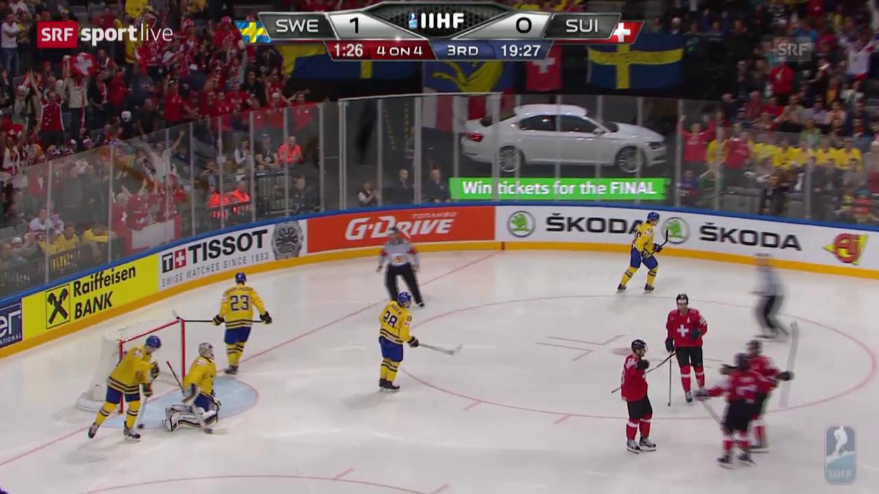 Eishockey: WM 2015, Die Tore bei Schweiz - Schweden