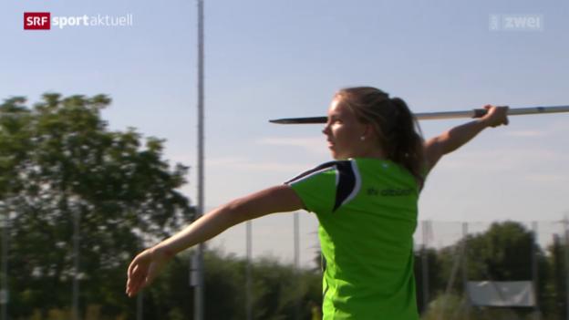 Video «Leichtathletik: SM in Zug, Speerwerferin Géraldine Ruckstuhl» abspielen