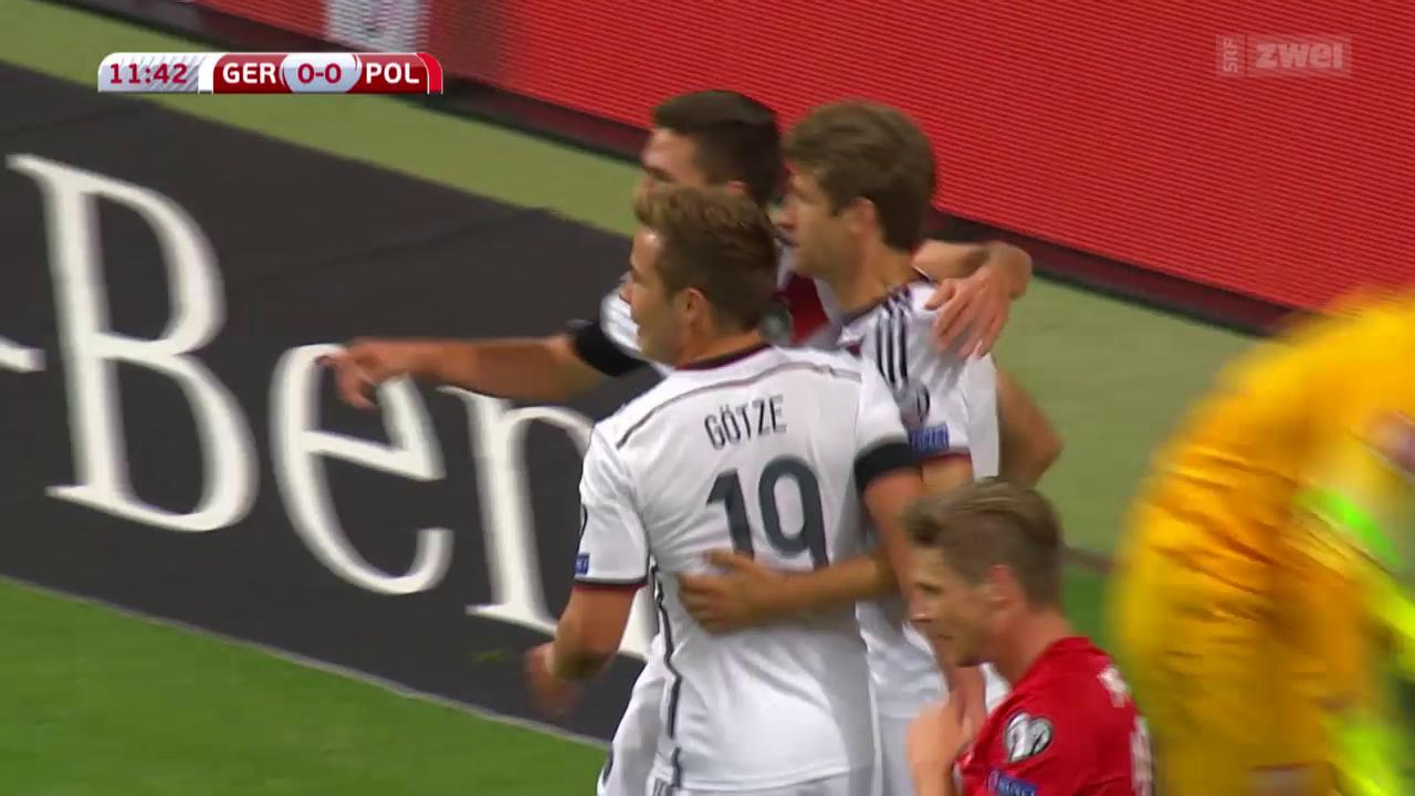 Fussball: EURO-Quali, Deutschland - Polen