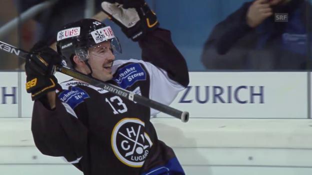 Video «Eishockey: Spengler Cup, Zusammenfassung Lugano-Adler Mannheim» abspielen