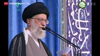Video «Trotz Atomabkommen: Chamenei wettert weiter gegen USA» abspielen