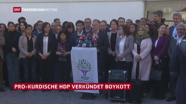 Video «HDP boykottiert parlamentarische Arbeit» abspielen