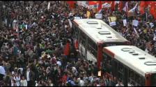 Video «Demonstrationen in Brasilien («sportaktuell»)» abspielen
