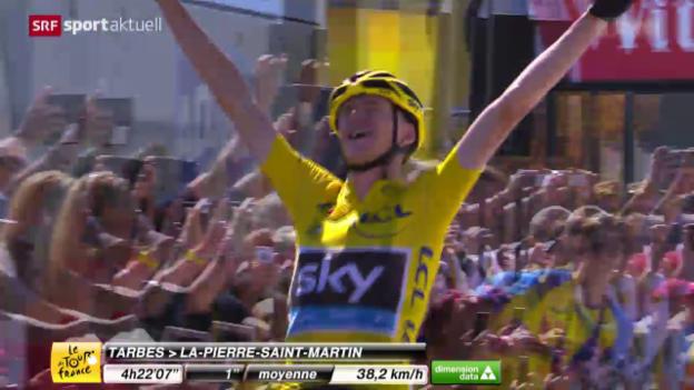 Video «Rad: Tour de France, 10. Etappe» abspielen