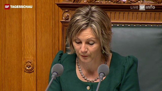 NR-Präsidentin Graf verkündet Maurers Wahlergebnis