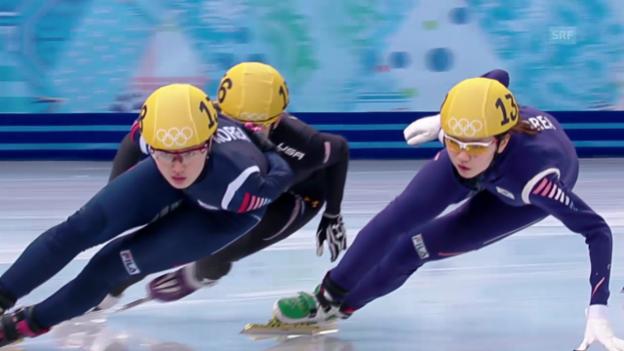 Video «Shorttrack, 1000 m Frauen (sotschi direkt, 21.02.2014)» abspielen