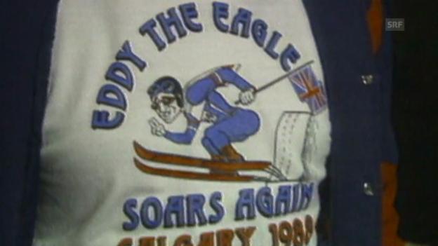 Video «Skispringen: Olympia 1988, Eddie the Eagle, Publikum» abspielen