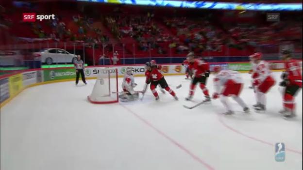 Video «Eishockey: Schweiz besiegt auch Dänemark» abspielen