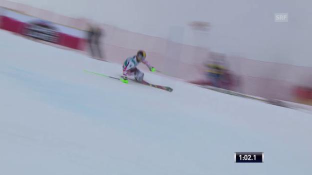 Video «Ski Alpin: Slalom Adelboden, 2. lauf Marcel Hirscher» abspielen