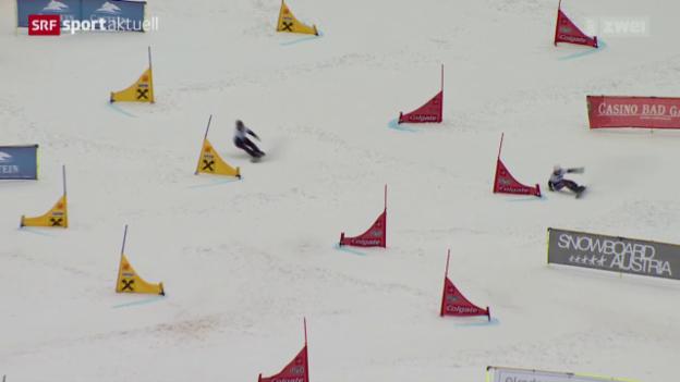 Video «Snowboward: Alpin, Parallelslalom in Bad Gastein» abspielen