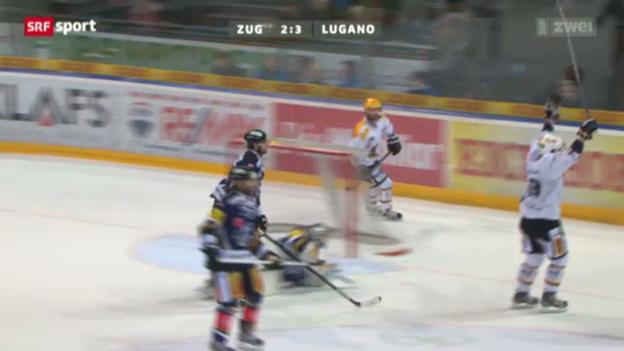 Video «Eishockey: EV Zug - HC Lugano» abspielen