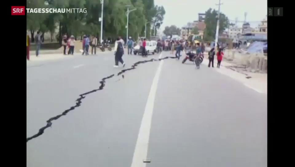 Heftiges Nachbeben in Nepal