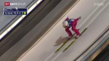 Video «Ski nordisch: Skispringen in Lillehammer» abspielen