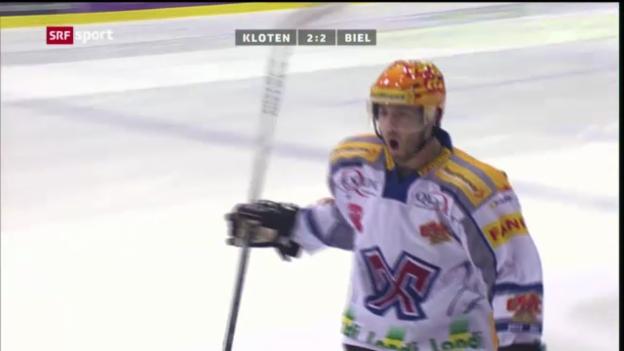 Video «Eishockey: Kloten - Biel («sportaktuell»)» abspielen