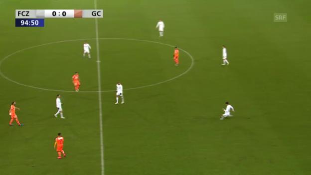 Video «Fussball: CH-Cup, Viertelfinal, FCZ-GC, Tor Rodriguez 1:0» abspielen