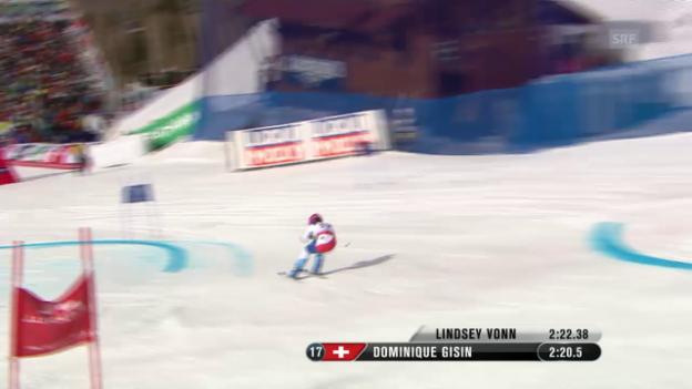 Video «Ski: WM 2015, 2. RS-Lauf von Dominique Gisin» abspielen