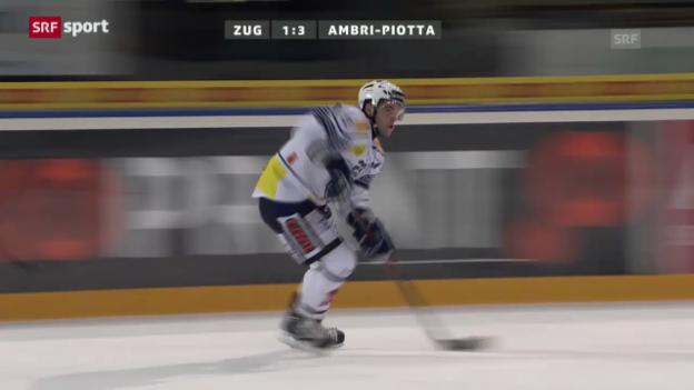 Video «NLA: Zug - Ambri («sportaktuell»)» abspielen