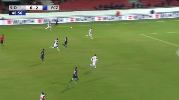 Video «Buff markiert den Treffer zum 3:0» abspielen