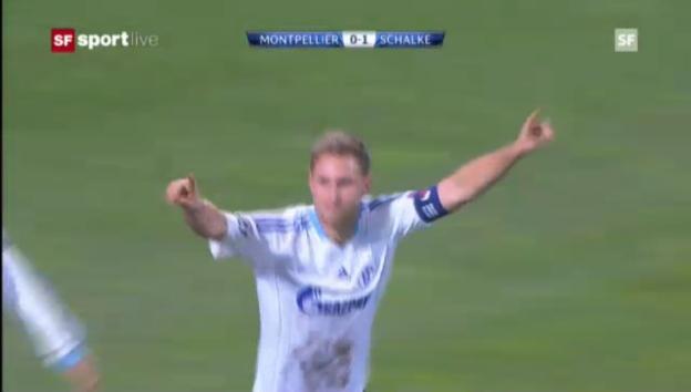 Video «CL: Montpellier - Schalke» abspielen
