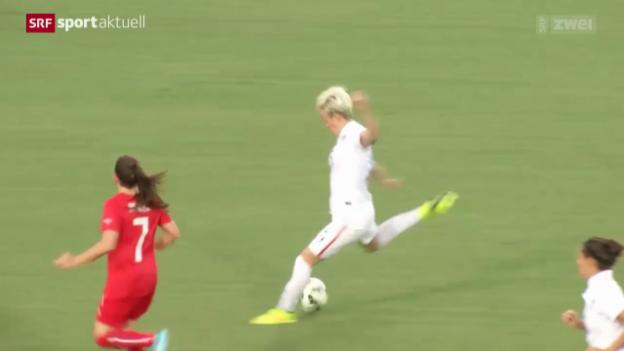Video «Fussball: Länderspiel Frauen-Nati, USA - Schweiz» abspielen