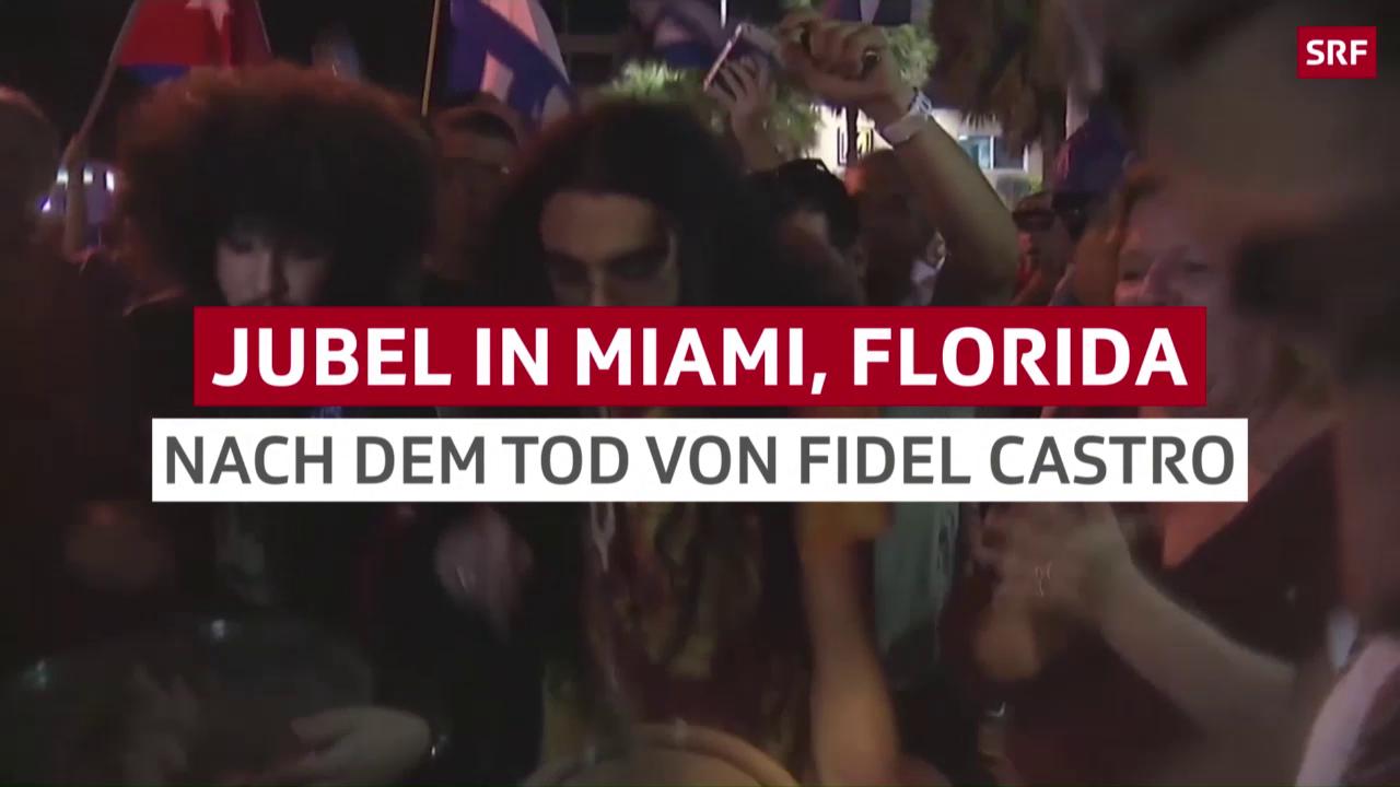 Exil-Kubaner feiern in den Strassen von Miami