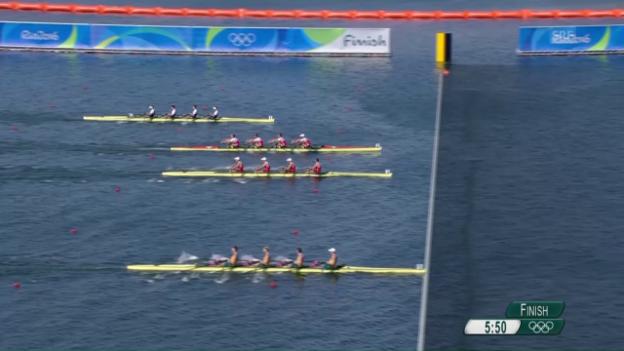 Video «Schweizer Doppel-Vierer: Im Schlusssprint Platz 2 verspielt» abspielen