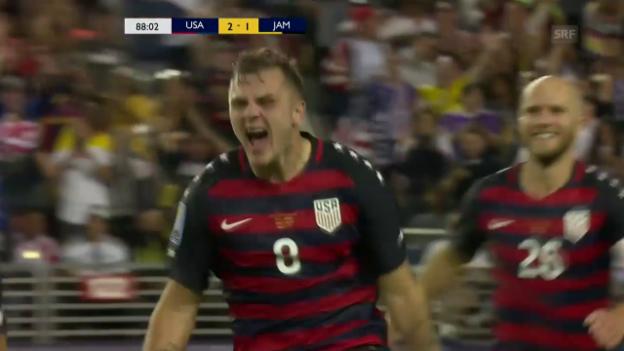Video «Die Tore im Gold-Cup-Final zwischen den USA und Jamaika» abspielen