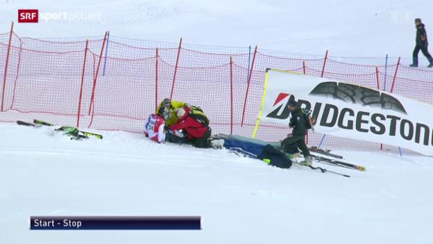 Video «Ski: Manuel Pleisch verletzt sich» abspielen