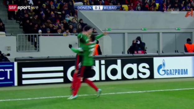 Video «Fussball: Champions League, Schachtar Donezk - Atheltic Bilbao» abspielen