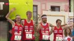 Video «Schweizer OL-Sprintstaffel holt EM-Bronze» abspielen