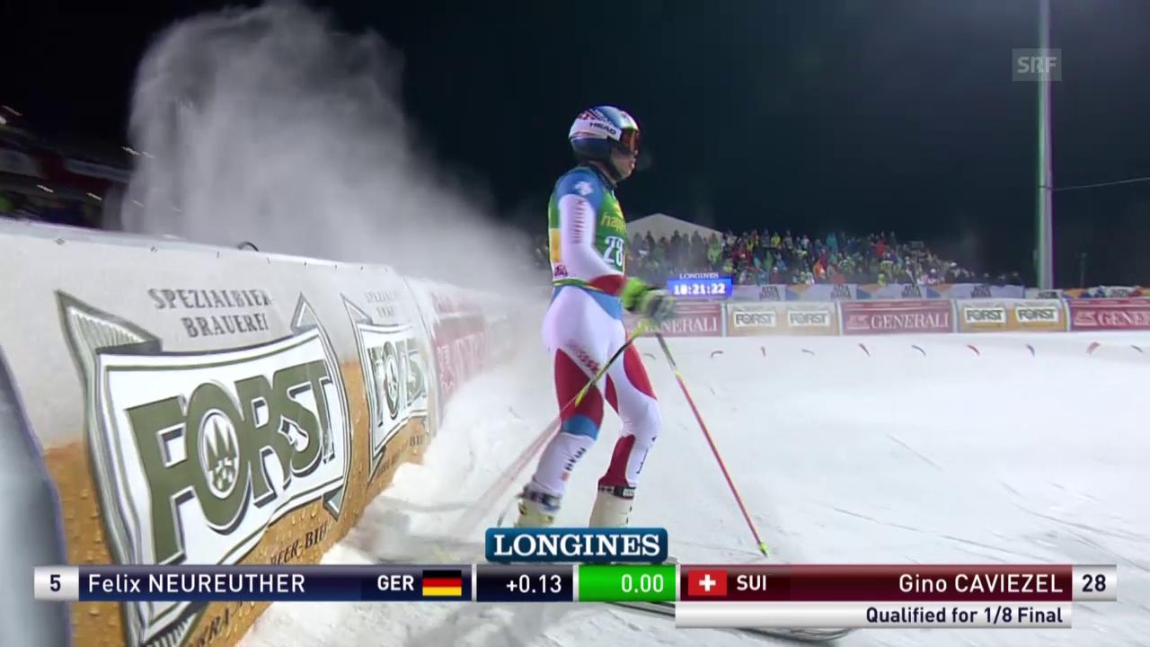 Ski: Parallel-Riesenslalom Alta Badia, Duell Gino Caviezel - Felix Neureuther