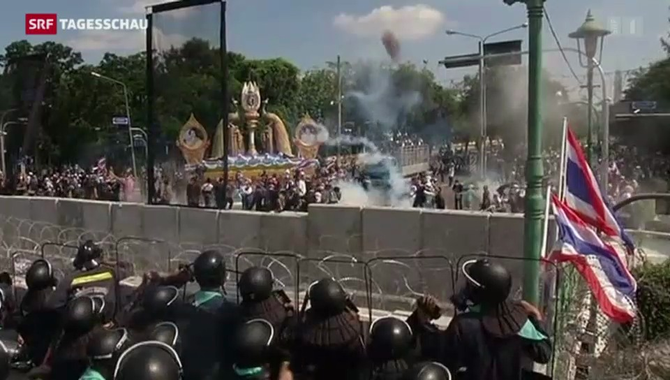 Gewalt bei thailändischen Protesten