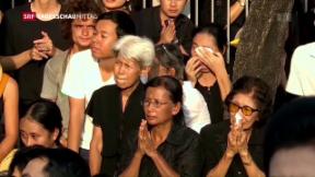 Video «Thailänder betrauern Tod ihres Monarchen» abspielen