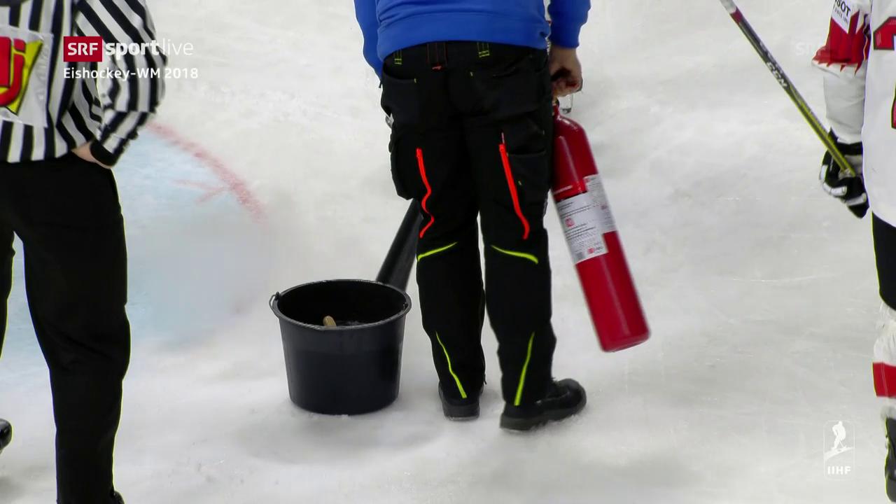 Regelmässig der Fall: Nachbesserungen am Eis