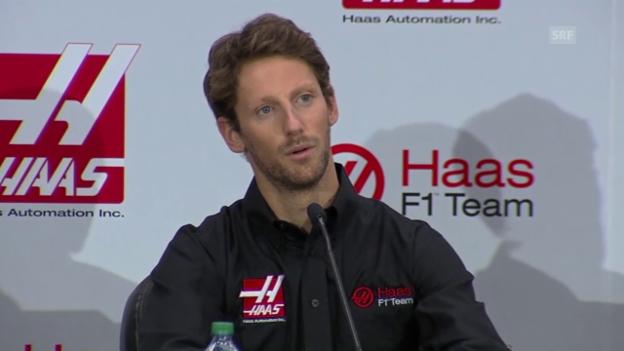 Video «Formel 1: Grosjean neuer Haas-Fahrer» abspielen