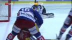 Video «Im Kellerduell gewinnt Ambri in Kloten nach Penaltyschiessen» abspielen