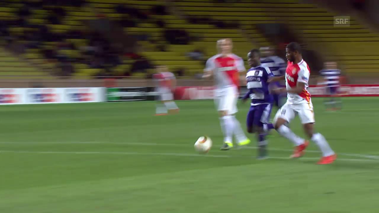Fussball: Europa League, Monaco – Anderlecht, Tor Acheampong